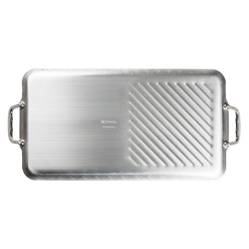 Parrilla-doble-quemador-con-grill-Vasconia-Basicos-de-Aluminio-Color-Negro-con-Duraflon®-PLUS-tienda-en-linea-La-Vasconia