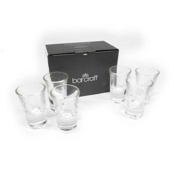 Juego de Vasos para Shot de 44ml Barcraft de 6 piezas hechos de Cristal