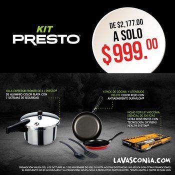 Kit Presto Set Octubre 2021 con la Olla Express® más versátil de México