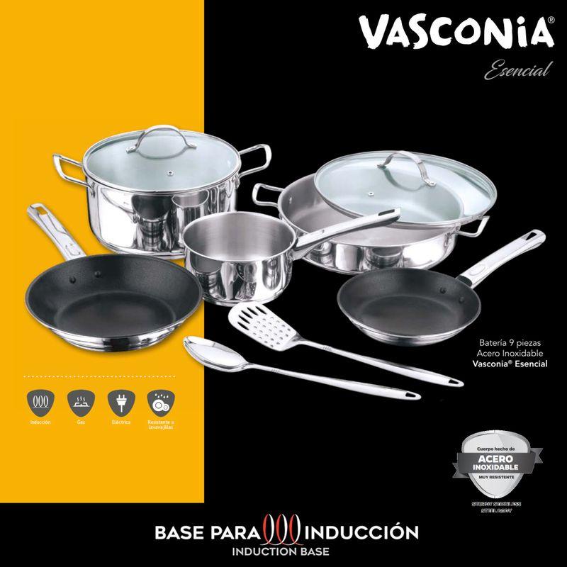bateria-vasconia-esencial-de-9-piezas-hecha-de-acero-inoxidable