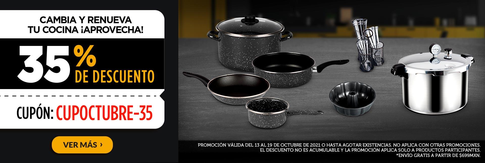 Cambia y renueva tu cocina ¡Aprovecha! 35% de descuento cupón:  CUPOCTUBRE-35